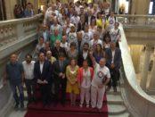 Celebración en el Parlament de la aprobación de la Renda Garantida de Ciutadania foto: TV3