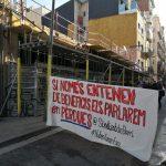 Veïns del Poble Sec ataquen els beneficis immobiliaris per aturar un desnonament