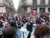 Manifestació del 8 de març a Barcelona foto: Joao França