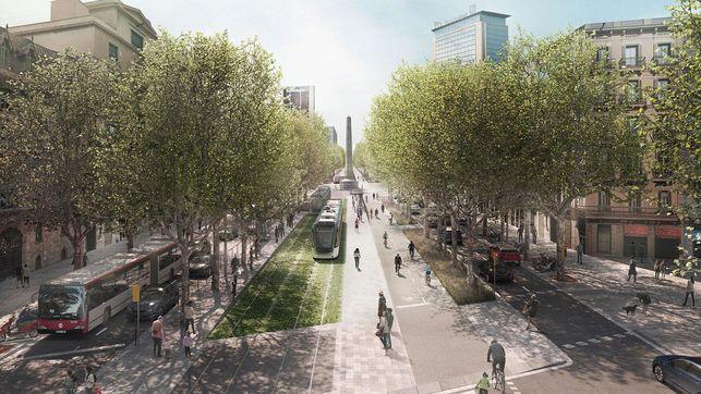 El 52% de la població de l'àrea de Barcelona està a favor de la unió del tramvia per la Diagonal