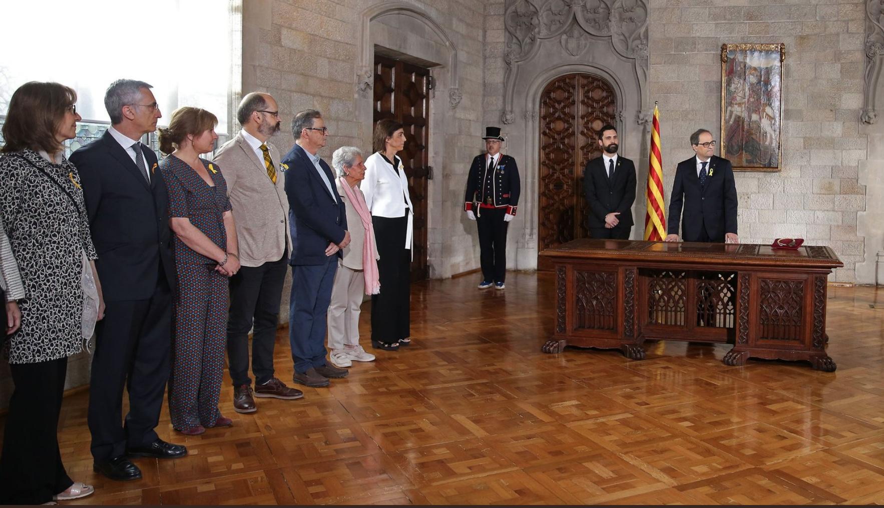 La presencia de mujeres retrocede en el nuevo Govern Torra, de cinco se pasa a tres