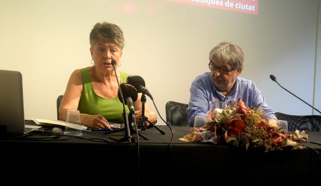 Marina Subirats, presidenta del CESB, durant la presentació de l'informe sobre salaris foto: Tomeu Ferrer