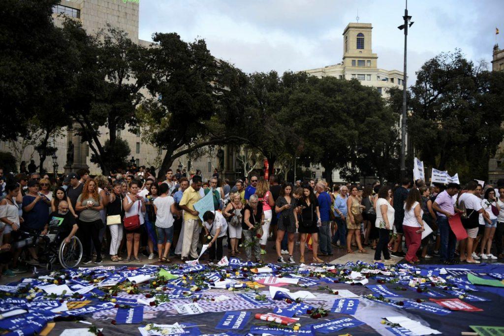Manifestació de rebuig als atemptats | Ajuntament de Barcelona