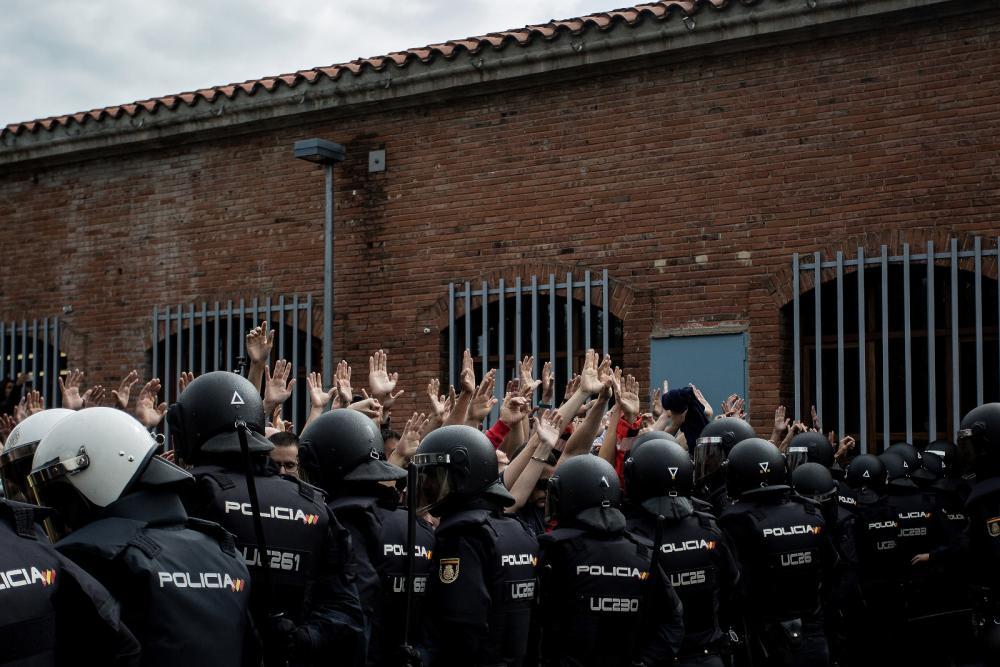 Una acció policial desproporcionada i abusiva