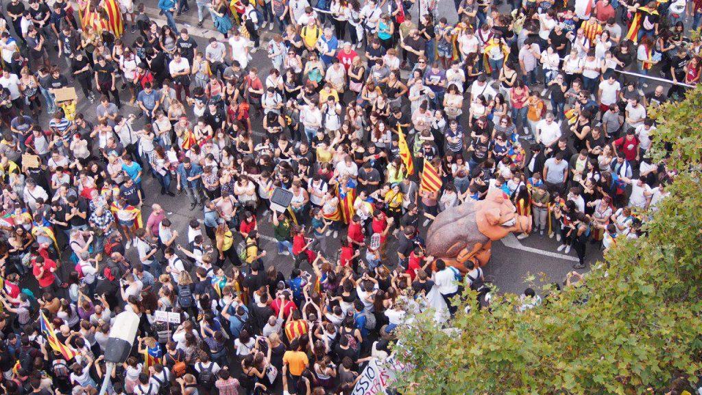 Concentració vaga 3-o a Barcelona, foto: Sandra Vicente