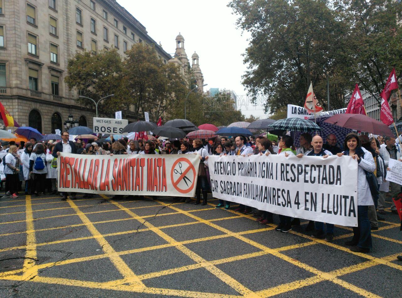 Àmplia resposta del personal sanitari català durant el primer dia de vaga