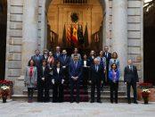 Foto del Gobierno en el consejo de ministros de Barcelona