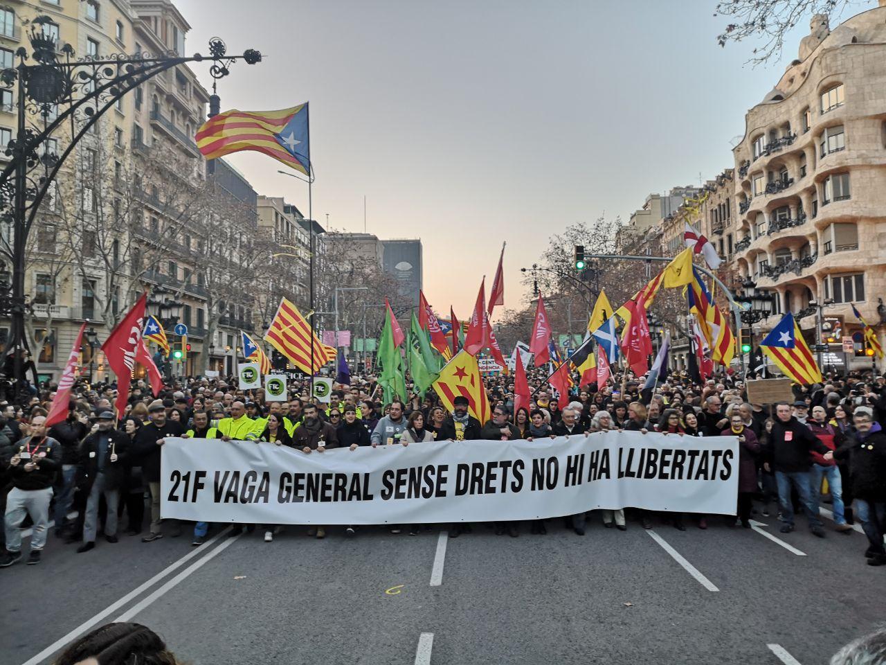 Sobre una vaga general, presos polítics i un judici: resum del 21F