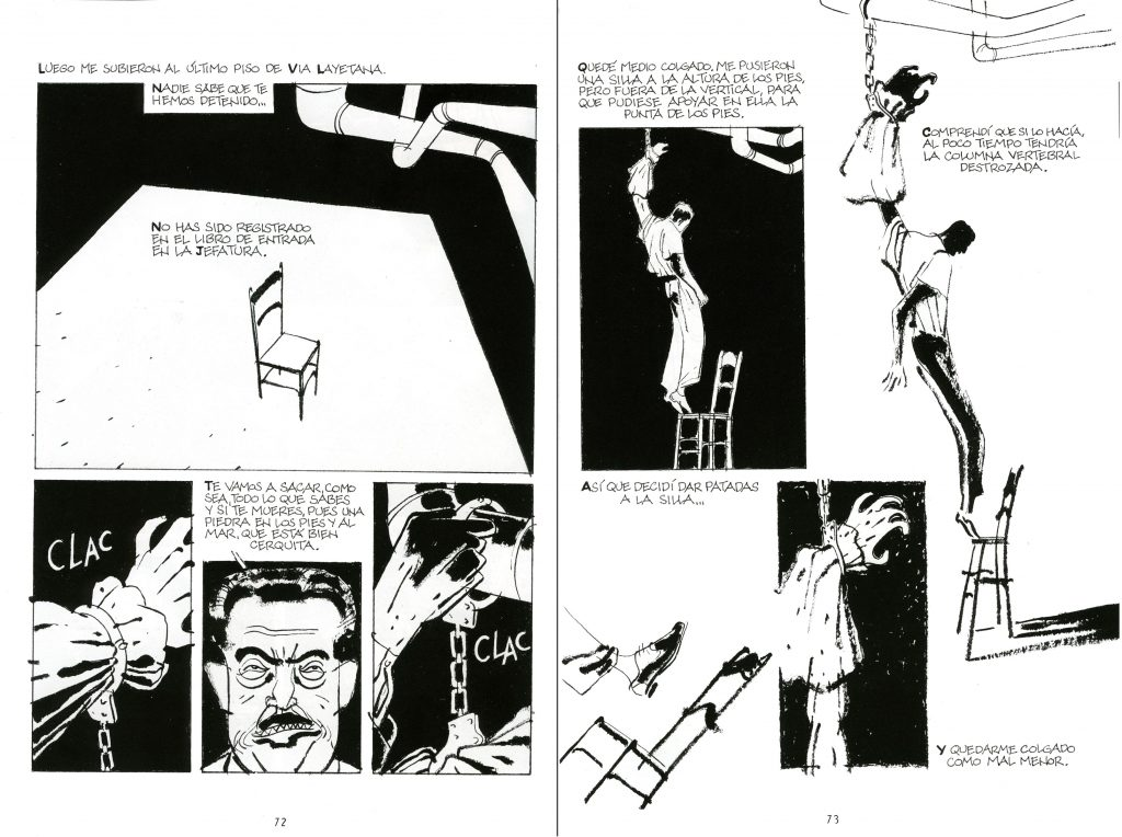 Relat de la tortura de Núñez a La Via Laietana / Pepe Gávez i Alfons López