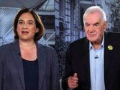 Ada Colau i Ernest Maragall, durant un debat per a les eleccions autonòmiques del 2019